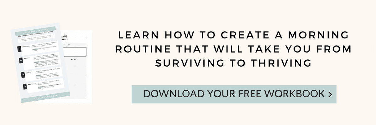 How to create a morning routine which will make you thrive free workbook